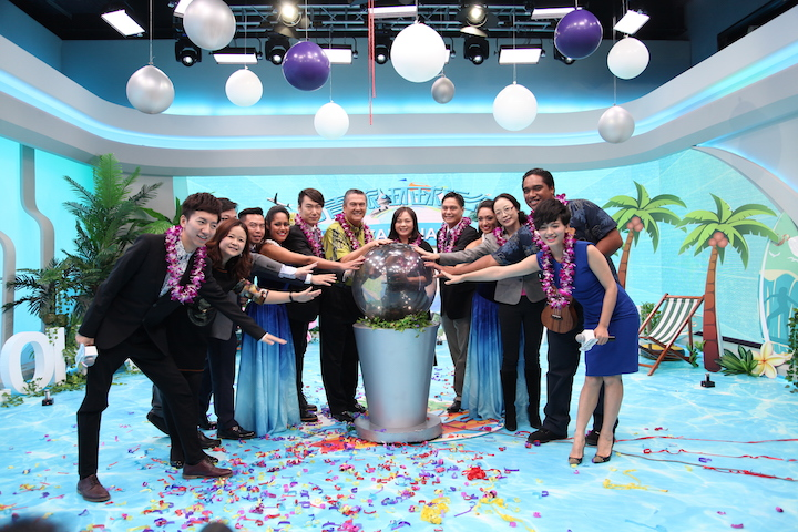 """Guests and working staff celebrating the successful launching of the """"Hawaii ALOHA Cultural Journey"""""""