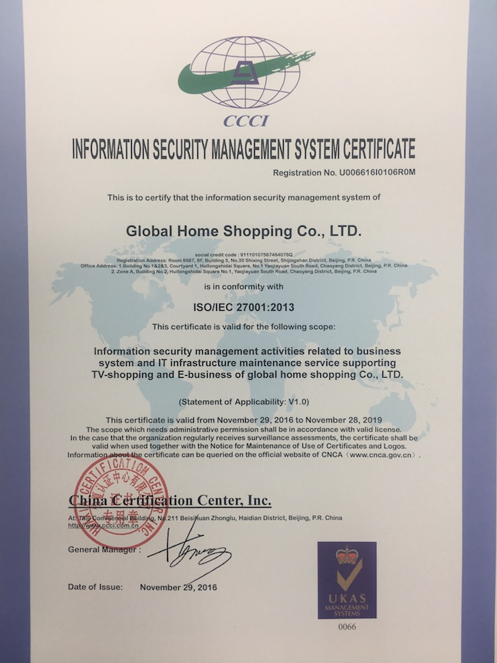 Ghs Passes Iso27001 Information Security Management System Certification