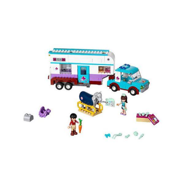 lego 乐高 friends好朋友系列 马用房车 积木拼插儿童